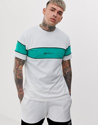 Mennace Co Ord T Shirt With Logo Panel In Off White