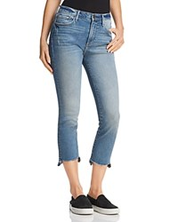 Aqua Cropped Step Hem Jeans In Medium Indigo 100 Exclusive