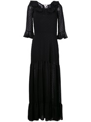For Love And Lemons Tarta Maxi Dress Women Polyester Spandex Elastane Xs Black