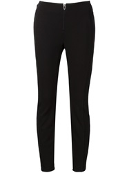 T By Alexander Wang Zip Detail Leggings Black