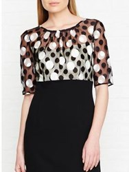 Hobbs Willow Polka Dot Pencil Dress Ivory Black