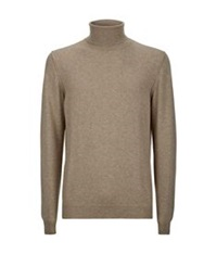 Aquascutum London Roll Neck Cashmere Sweater Beige