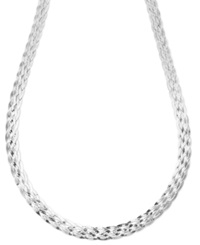 Giani Bernini Sterling Silver Necklace Silver Braided Snake Necklace