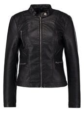 Only Onlwilma Faux Leather Jacket Black