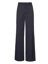 Marc Jacobs Pinstriped Wide Leg Wool Trousers