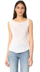 The Hours One Shoulder Tank White