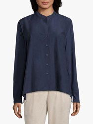 Betty Barclay And Co Cotton Blend Shirt Navy Blue