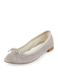 Cendrillon Suede Ballet Flat Light Gray Repetto