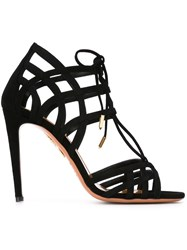 Aquazzura 'Ginger' Lace Up Sandals Black