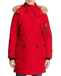 Pendleton Jackson Fur Trim Down Coat Red