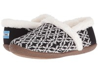 Toms Slipper Black White Fair Isle Women's Slippers