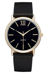 Women's Bp. Round Faux Leather Strap Watch 37Mm