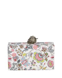 Edie Parker Wolf Paisley Clutch Bag With Strawberry Clasp Multi
