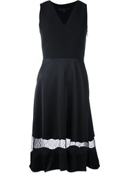 Alexander Wang Lace Panel A Line Dress Black