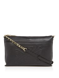 Biba Constance Slip Pocket Leather Crossbody Black