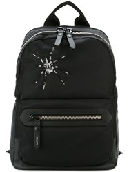 Lanvin Embroidered Spider Backpack Black
