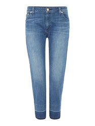 Michael Kors Straight Leg Released Hem Jeans Vintage Blue