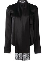 Givenchy Scarf Lapel Blouse Black
