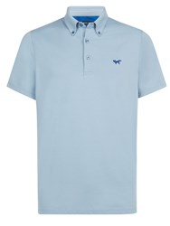 Wolsey Half And Half Regular Fit Polo Shirt Blue