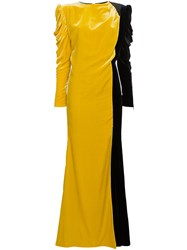 Ronald Van Der Kemp Silk Long Length Gown Black
