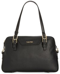 Calvin Klein Quilted Side Satchel Black