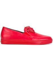 Versace Palazzo Slip On Sneakers Red