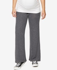 A Pea In The Pod Maternity Wide Leg Lounge Pants Charcoal