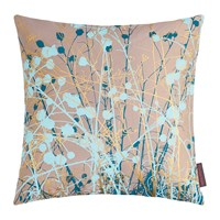 Clarissa Hulse Mystras Cushion 45X45cm Kingfisher Peacock Duck Egg Gold