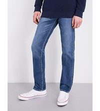 True Religion Rocco Relaxed Skinny Fit Jeans Indigo Barrell