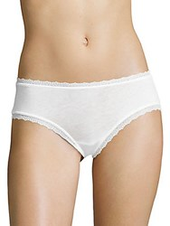 Skin Organic Cotton Lace Boyshort White