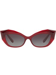 Dolce And Gabbana Eyewear Cat Eye Tinted Sunglasses Red
