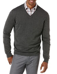 Perry Ellis V Neck Sweater Deep Iron