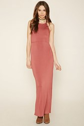 Forever 21 High Slit Strappy Maxi Dress