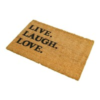 Artsy Doormats Live Laugh Love Door Mat
