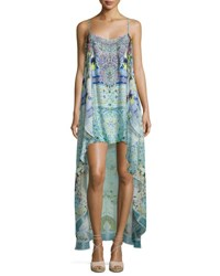Camilla Embellished High Low Coverup Dress My Majorelle