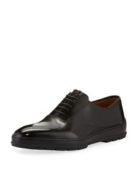 Bally Renno Leather Lace Up Shoes Black