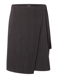 Therapy Amorie Wrap Over Detail Skirt Charcoal