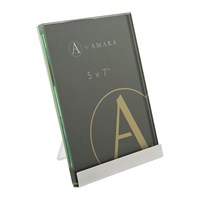 Amara Silver Block Plated Steel Photo Frame 5X7