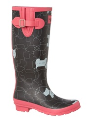 Radley In Stitches Long Wellie Boot Black