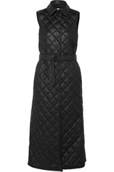 Gabriela Hearst Rodenko Belted Quilted Leather Vest Black