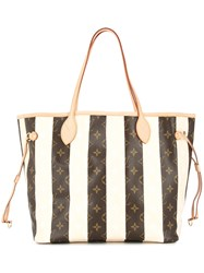 Louis Vuitton Vintage Neverfull Monogram Tote Bag Brown