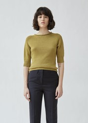 Margaret Howell Cast Off Roll Neck Sweater Lime