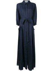 Gabriela Hearst Cervantes Shirt Dress Blue