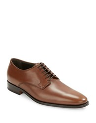 Bruno Magli Werter Leather Lace Up Derby Shoes Chestnut