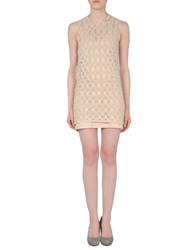 Lutz And Patmos Dresses Short Dresses Women Beige