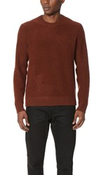 Vince Boiled Cashmere Crew Sweater Bark