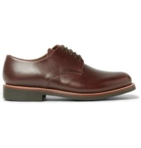 Grenson Curt Leather Derby Shoes Brown