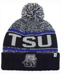 Top Of The World Tennessee State Tigers Acid Rain Pom Knit Hat Heather Gray Black Blue
