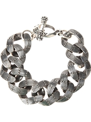 King Baby Studio King Baby Textured Chain Link Bracelet Grey