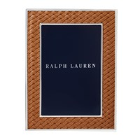 Ralph Lauren Home Brockton Photo Frame Saddle 4X6 Brown
